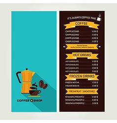 Coffee house menu restaurant template design vector