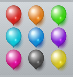 colorful realistic rubber balloons for birthday vector image