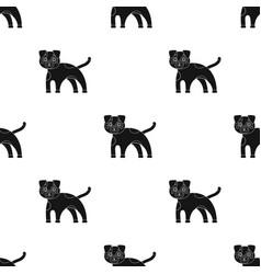 Dog single icon in black styledog symbol vector