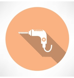 Drill icon vector image vector image