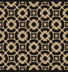 golden abstract pattern in arabian gold style vector image