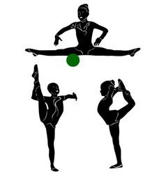 gymnastics 1 vector image vector image