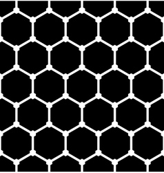 Hexagons latticed pattern vector image