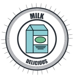line delicious food isolated icon vector image vector image