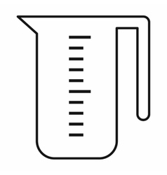 Measuring cup icon outline style vector