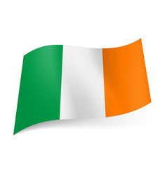 National flag of ireland green white and orange vector