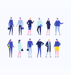 Office workers - flat design style set of isolated vector