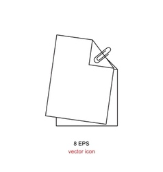 Paper icon isolated vector