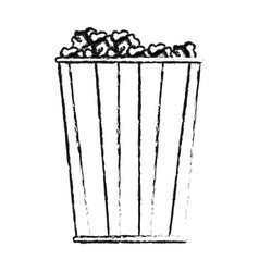 Popcorn bowl icon image vector