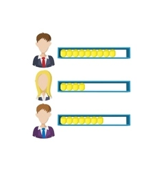 Ranking office worker icon cartoon style vector