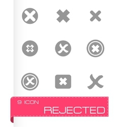 Rejected icon set vector