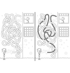 Soap bubbles maze vector image vector image