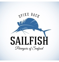 Spike back sailfish seafood purveyors abstract vector