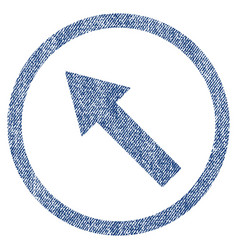 Up-left rounded arrow fabric textured icon vector