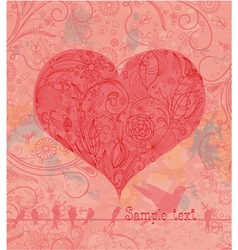 vintage valentine background vector image