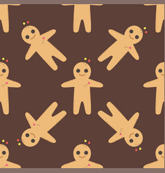 Voodoo doll seamless pattern punishment vector