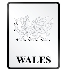 Wales sign vector