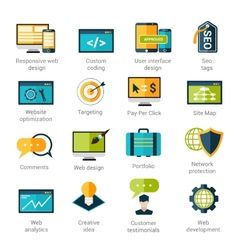 Web development icons set vector