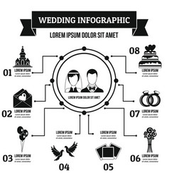 wedding infographic concept simple style vector image
