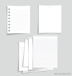 white papers collection vector image vector image