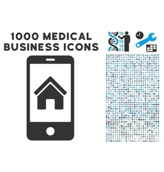 Smartphone homepage icon with 1000 medical vector