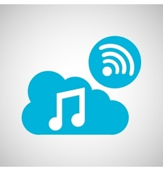 Cloud music connection internet concept graphic vector