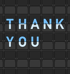 Thank You Flip Board vector image