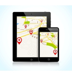 Tablet pc and phone vector image