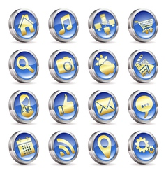 Collect applications icons vector