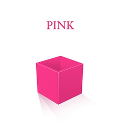 Pink box isolated on white background vector