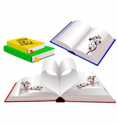 Set of books with ornaments vector