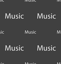 Music sign icon karaoke symbol seamless pattern on vector