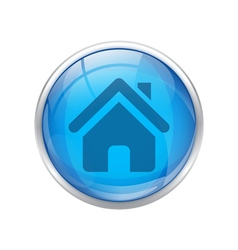 Blue home button vector