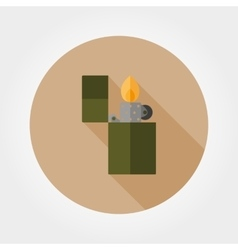 Lighter icon flat vector