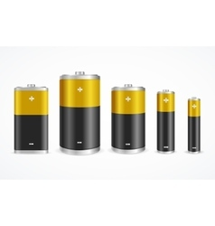 Battery set vector