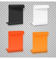 Set of folded paper sheets template realistic vector