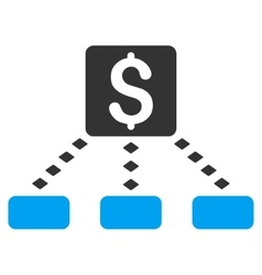 Cashout scheme toolbar icon vector
