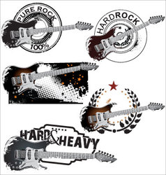Pure rock stamp set vector