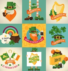 St Patricks Icon Set vector image