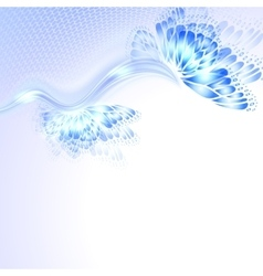 Abstract wave blue purplr background with vector image