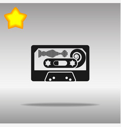 Audio tape black icon button logo symbol vector