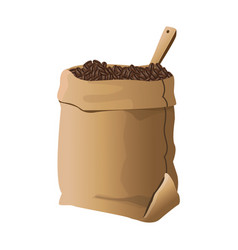 Bag of coffee beans vector
