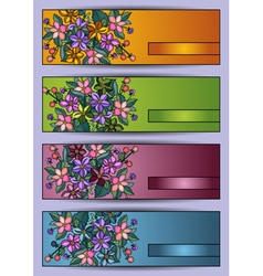 Banners with flowers vector image vector image
