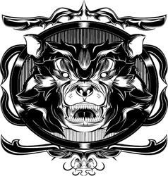 black bear frame vector image vector image