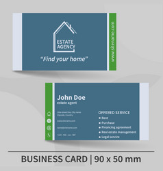 Business card template real estate agency design vector