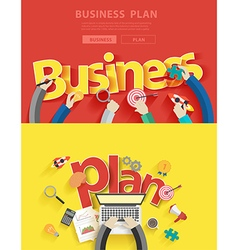 Business plan analysis and planning vector image vector image