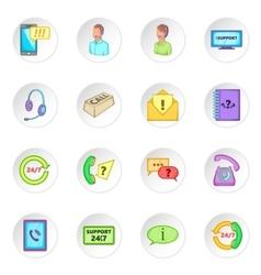 Call center icons set vector