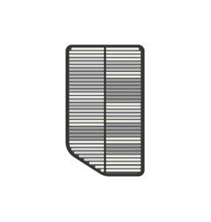 Dirty car air filter vector