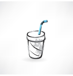 drink grunge icon vector image