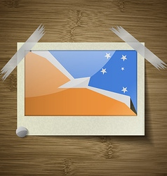 Flags of tierra del fuego province at frame on vector